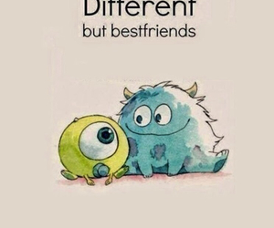 friends, different, and monsters inc image