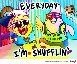 spongebob, patrick, and shufflin image