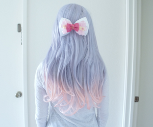bow, girl, and hairstyle image