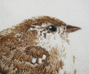 bird, art, and embroidery image