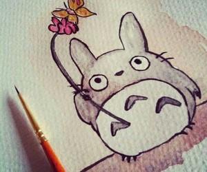 totoro, cute, and art image
