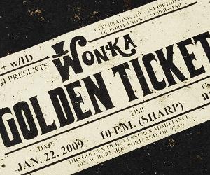 golden ticket, wonka, and chocolate image