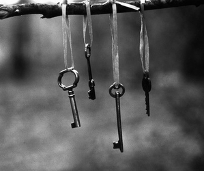 key, black and white, and photography image