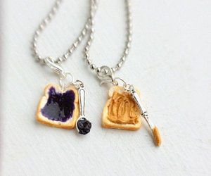 necklace, jelly, and food image