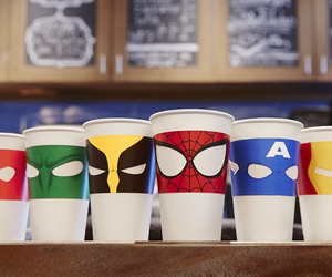 cool, cups, and Marvel image