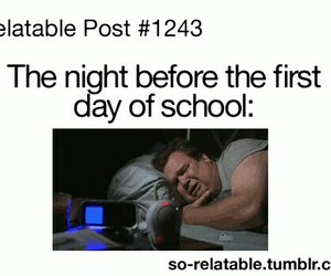 school, funny, and cry image