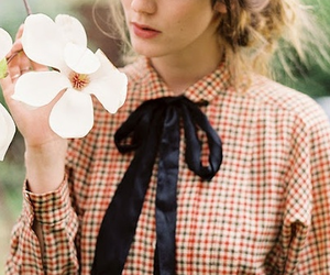 girl, flower, and indie image