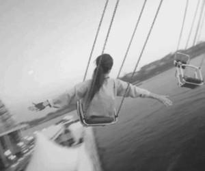 girl, fun, and fly image