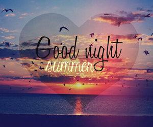 summer, night, and sunset image