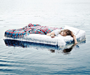 girl, sleep, and water image