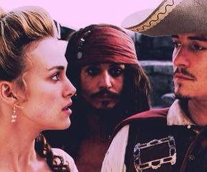 johnny depp, pirates of the caribbean, and keira knightley image