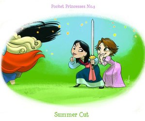 disney, mulan, and rapunzel image