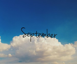 blue, clouds, and September image