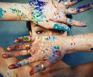 girl, paint, and art image