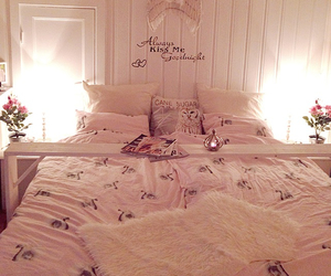 bedroom, candles, and cozy image