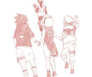 naruto, sasuke uchiha, and sakura haruno image