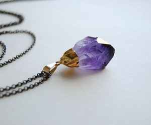 crystal, necklace, and amethyst image