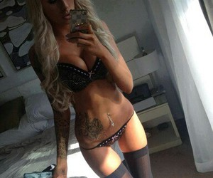 blonde, piercing, and girl image