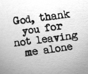 alone, god, and me image