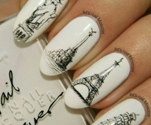 nails, paris, and white image