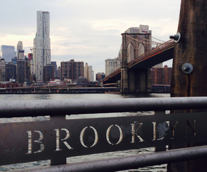 bridge, Brooklyn, and buildings image