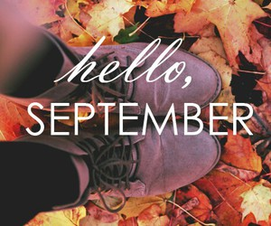 September, autumn, and leaves image