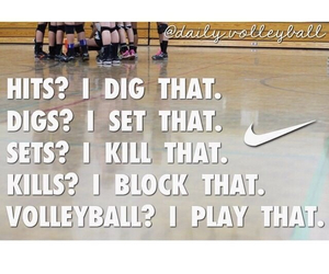 volleyball, quotes, and sports image