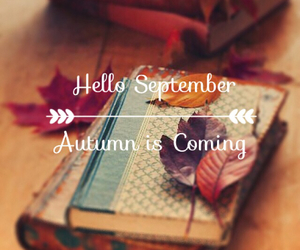 autumn, hello, and book image