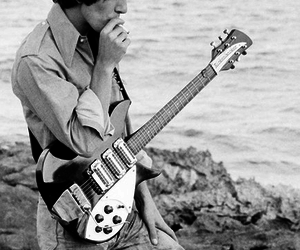 beach, george harrison, and guitar image