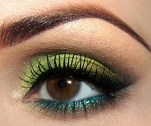 green, eyes, and makeup image