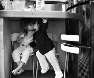 black and white, fresh, and kids in love image