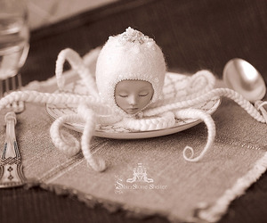 antique, decoration, and octopus image