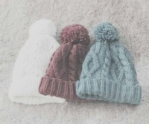 hats, white, and winter image