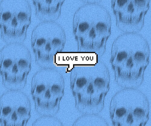 skulls and love image