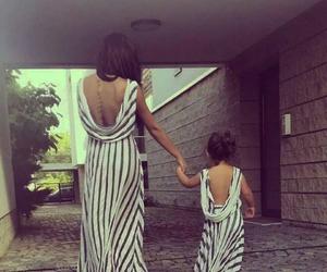 dress, baby, and mom image