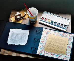 idea, drawing, and notebook image