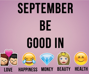 September, love, and money image