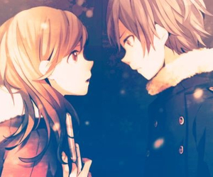 anime, couple, and anime couple image