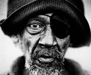 b&w, old people, and portrait image