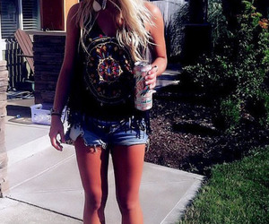 blonde, summer, and pretty image