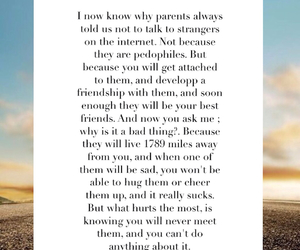 friendship, internet, and quote image