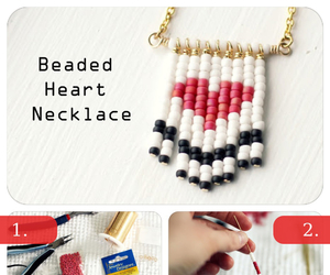 diy, heart, and necklace image