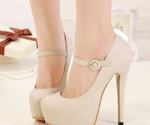 beauty, shoes heels, and beige image