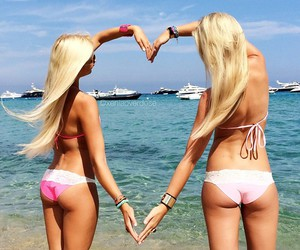 blondes, girls, and heart image