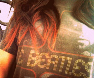 beatles, girl, and hair image