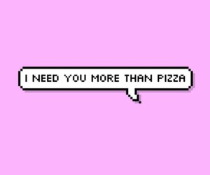 pizza, cute, and love image