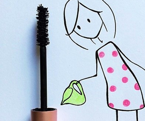 mascara, girl, and art image