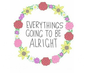 flowers, overlay, and quote image