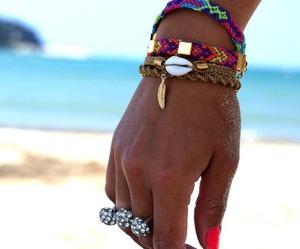 beach, beautiful, and fashion image