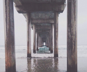 beach, bridge, and photo image